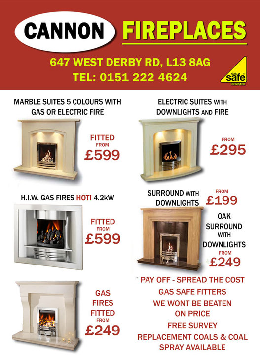 Cannon Fireplaces We Sell Gas And Electric Fires Fire Surrounds Hole In The Wall